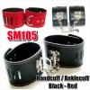 SM105 HAND / ANKLE CUFF (BLACK, RED)